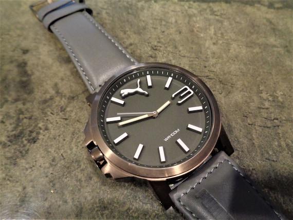 Scarce Puma Time 805 103461N WR100M Left Crown Jumbo Ultrasize   Etsy