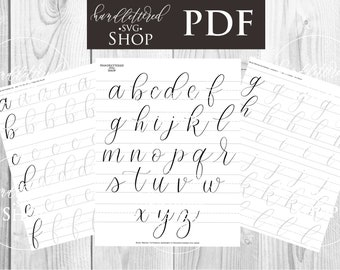 Bouncy Exaggerated Brush Lettering Alphabet Practice | Etsy