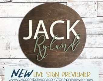 Custom name sign  | nursery decor | kids room sign | wooden sign | door name sign | baby shower gift | kids room | wood sign | boy
