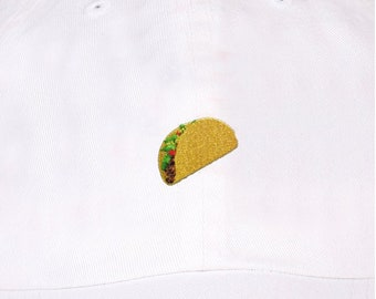84036893f4b Taco Emoji Embroidery on Unstructured Dad Hat unisex one size many color cap