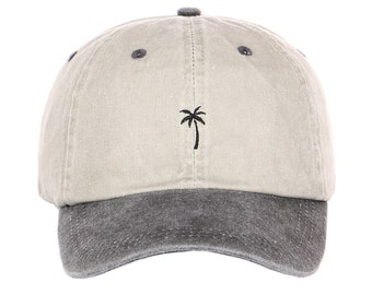 a982279b Exclusive Embroidery palm tree baseball Embroidered Cap Beach Tropical  Plant Unstructured Six Panel Adjustable strap back Unisex Dad Hat