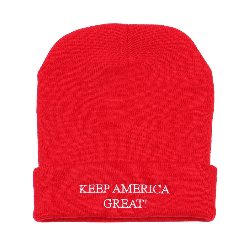 7a98c4e4b Embroidery Keep america great Trump on Skull knit Unisex 12