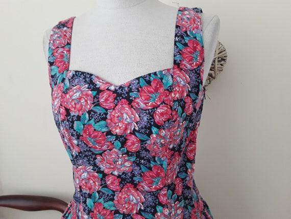 1980s Vintage Laura Ashley Floral Dress.Cotton. S… - image 2