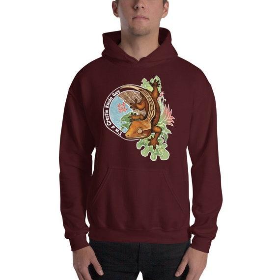 Crested Gecko Guy Hooded Sweatshirt Crested Gecko Hoodie Etsy