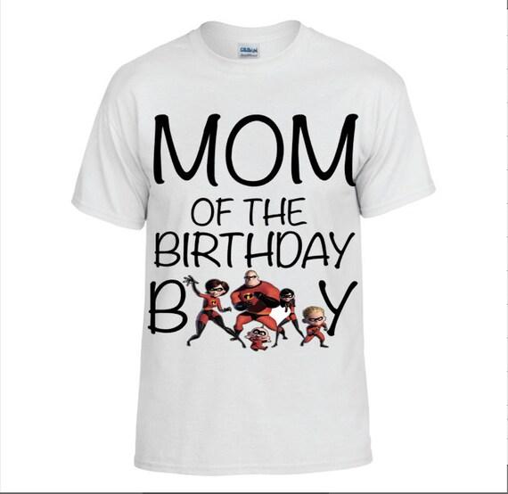 Incredibles Dad Mom Brother Birthday Shirts