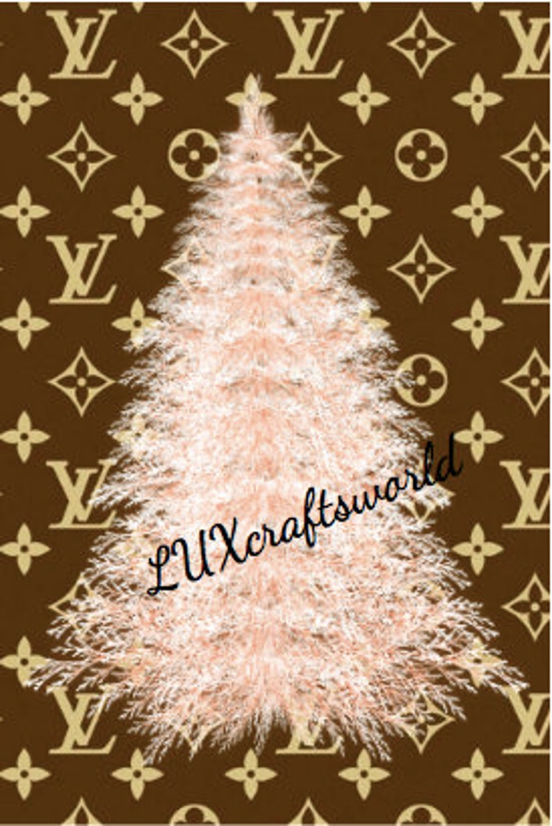 Louis Vuitton Rose Gold Christmas Tree Dashboard