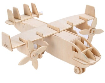 Toys & Games Airplane 3D Wooden Model Puzzle KIDS ADULTS Wooden