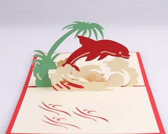 3D Greeting Card Dolphin