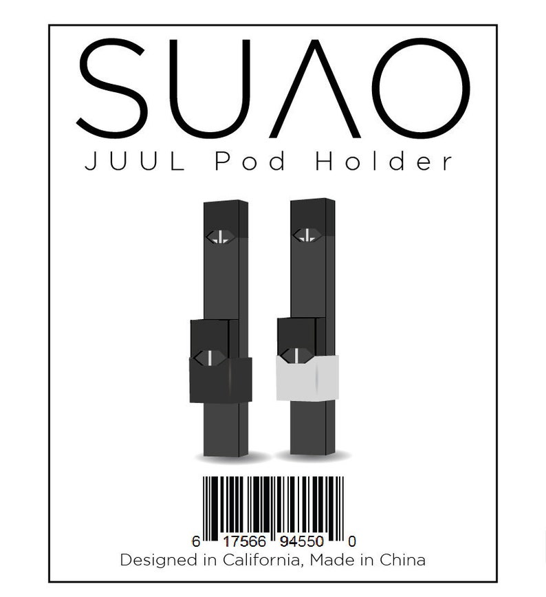 SUVO JUUL Pod Holder | Silicone Spare Pod Holder | 2 Pack