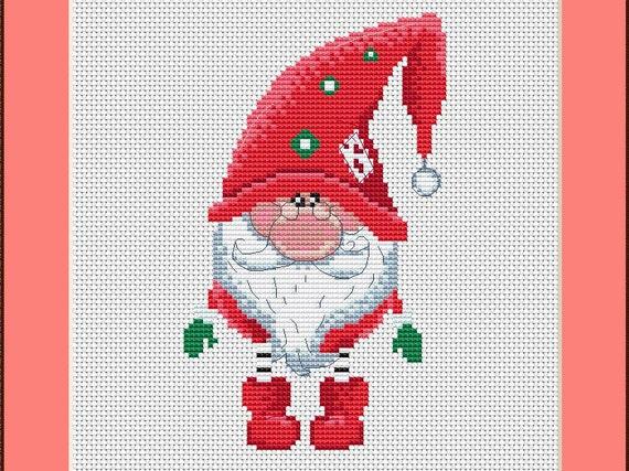 NEVE Scandinavian Christmas Gnomes Cross Stitch Chart Pattern Xstitch Chart
