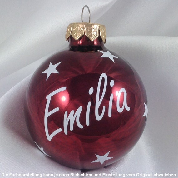 Personalized Christmas Balls.Christmas Tree Balls Large Color Choice Personalized Christmas Balls With Wishful Name 6 Cm Glossy Font White