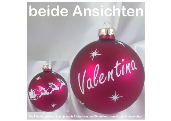 Christmas Tree Balls.Christmas Tree Balls Personalised Christmas Baubles With Wishful Pink 8 Cm Font White
