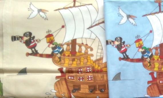 Gym bag with name Young ship pirate ship many motifs nursery school fabric bag
