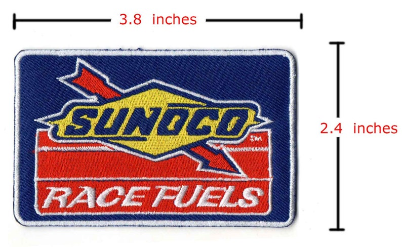 sunoco race fuels oil lube embroidered iron on sew patch badge arm cap