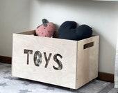 Wooden Toy Box - Modern Toy Box - Big Toy Chest - Scandinavian Style Storage Box - Nursery toy box - Toy storage - Montessori Wooden toy box