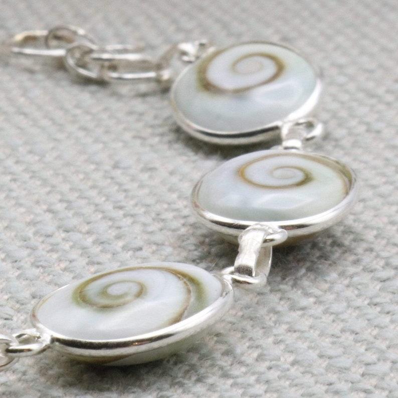 Multi Stones Sterling Silver Shiva Eye Bracelet