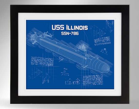 Virginia Class SSN-789 #663 USS Indiana Nuclear Fast Attack Submarine Wall Art Prints US Navy Multiple Options