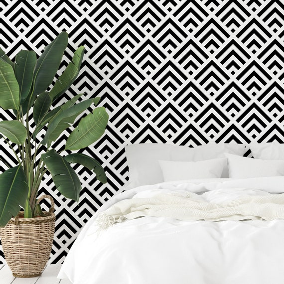 Tic Tac Toe Self Adhesive Wall Mural Geometric Peel /& Stick Wallpaper Circle and Cross Removable Decal Black and White Temporary Decor