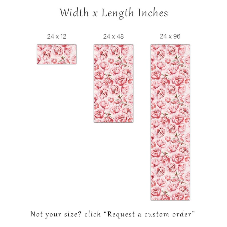 Floral Roses Self Adhesive Wall Mural Pink Peony Removable Wallpaper Watercolor Flowers Peel /& Stick Decal Kids Nursery Temporary Decor