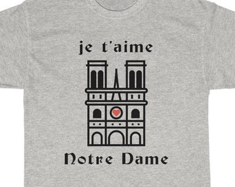 9d118b699009b je t aime Notre Dame Cathedral T-Shirt