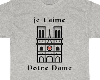 517222c43b050f je t aime Notre Dame Cathedral T-Shirt