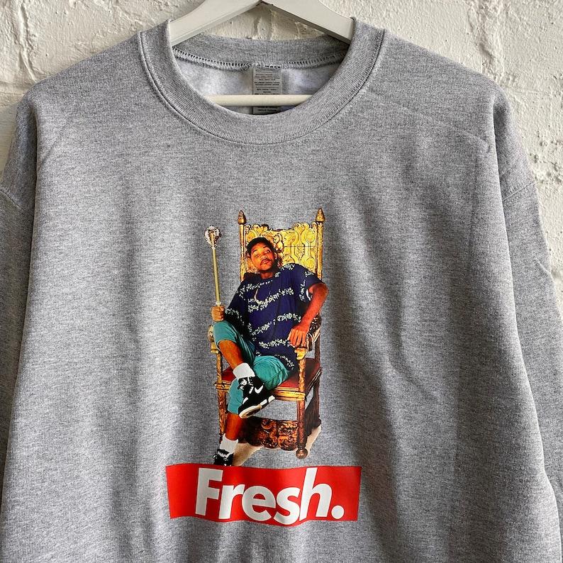 Actual Fact FRESH Prince Heather Grey Sweatshirt