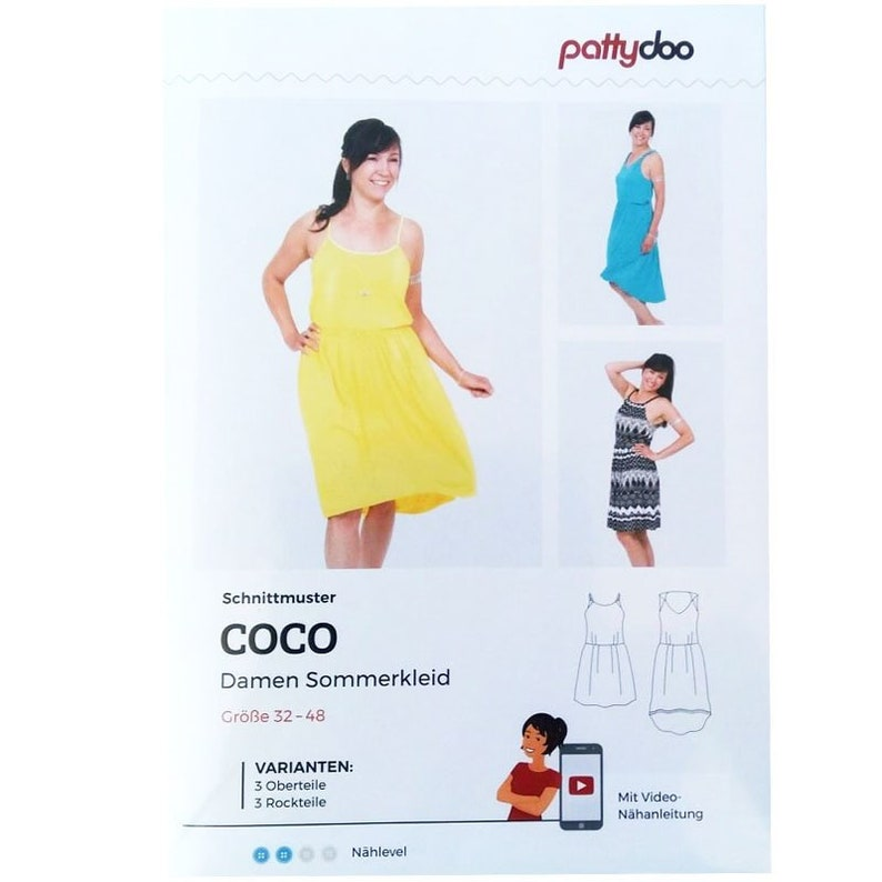 Cut pattern of pattydoo summer dress Coco for women