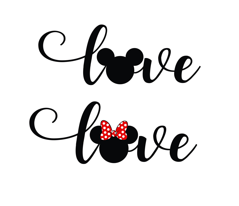 Download Free font_Love disney svg png Dxf Love disney cut Love | Etsy