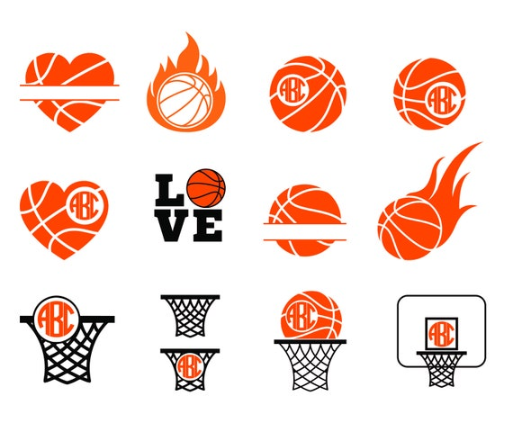 Free font_Basketball SVG Monogram Frames - Basketball Cut Files for  Silhouette Studio, Cricut Design Space, Cutting Machines - Svg, Dxf, PNG