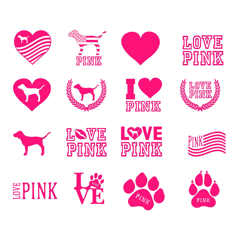 Download Free font_Love pink svg pink love svg love pink clipart | Etsy