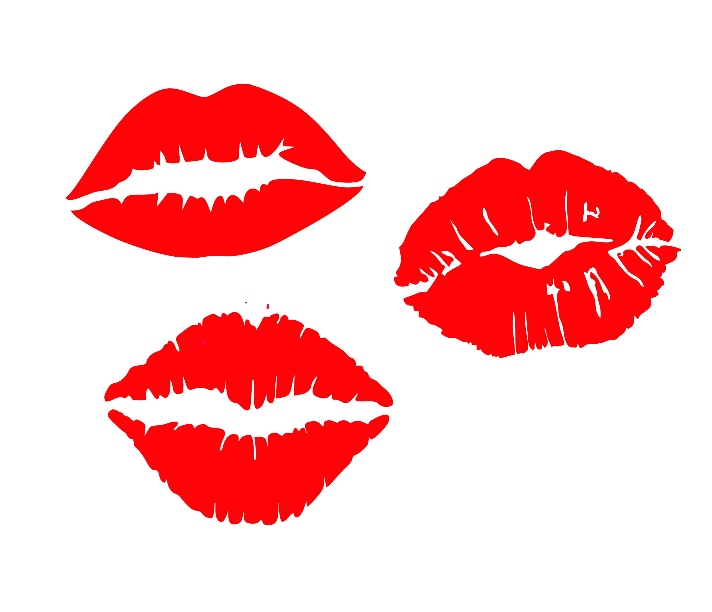 Download Free font_Lips svg Lips silhouette Kiss svg Kiss cricut | Etsy