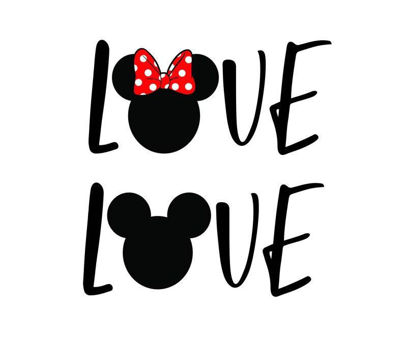 Free font_Love disney svg, png, Dxf, Love disney cut, Love mickey svg, love  minnie, silhouette, cricut file