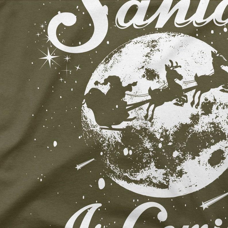 Santa is coming Christmas-men/'s fun t-shirt-printed-small to 4XL-PAPAYANA