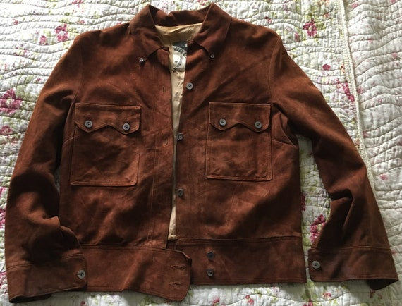 Ultra rare Mod / Psych 1960s vintage brown suede w