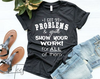Math teacher shirt | Etsy