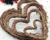 Rustic heart wreaths, wedding decor, craft supply, Valentine 39 s Day decor , natural wreath, door wreath, home decor