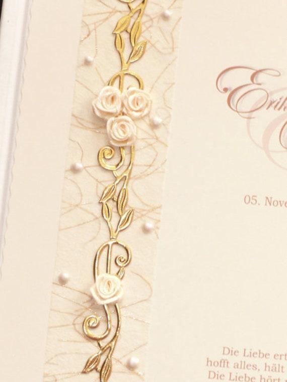 Gästebuch Hochzeit Goldene Gold Goldhochzeit Ranken Geschenk Deko Dekoration