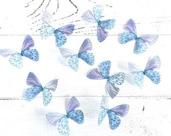 10 delicate butterflies of organza, fairy wings, fabric butterflies, elven wings, almost like real butterflies, delicate decoration, table decoration