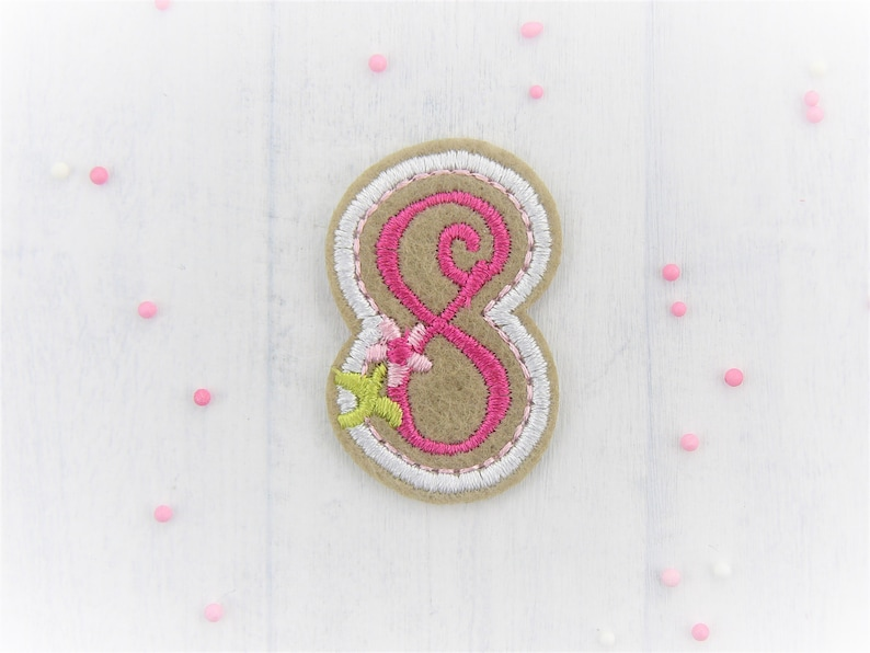ironing image patch applique 8th birthday number 8 pink number birthday number birthday gift 8 for ironing on number for ironing on