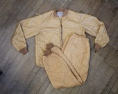 1940s 1950s vintage greenlander thermal quilted undersuit jacket and pants size medium