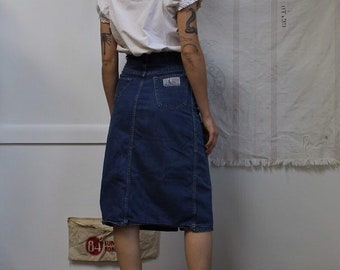 07b36bb0c7 1970s vintage Levis farmers mechanics miners denim jean skirt 26