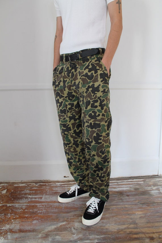 vintage 1960s Hunting Camo Pants workwear trousers