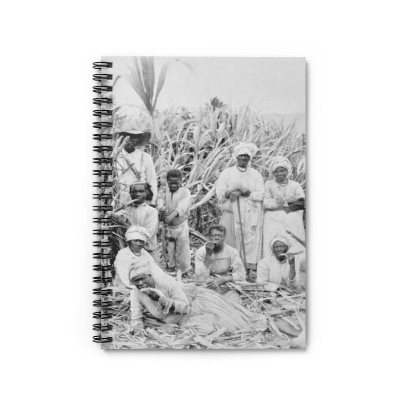 Vintage St Croix  Sugarcane Workers Spiral Notebook Memory image 0