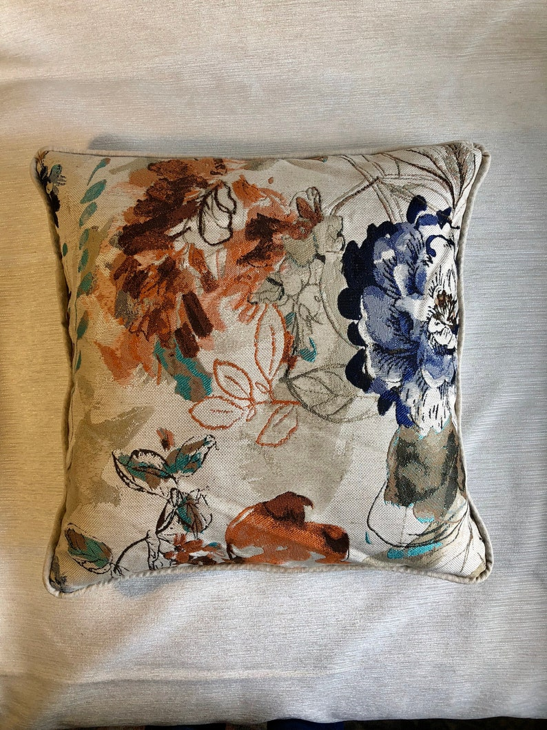 Beautiful Jacquard Fabric,Piping Pillow Cover,Made To Order.