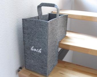 "Stair basket felt ""up & down"""