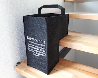 "Luxury stair basket felt ""knick-knacks"""