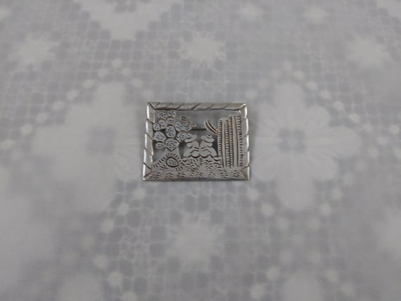 Sterling Silver Mexican Cactus Pin