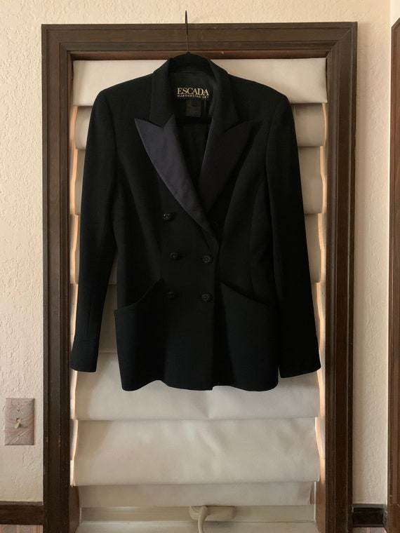 Vintage Escada Tuxedo Jacket 1980s