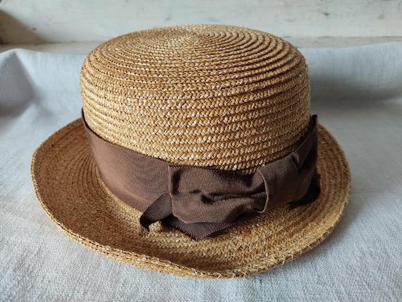 Easter in vintage straw hat sun hat summer hat - image 6