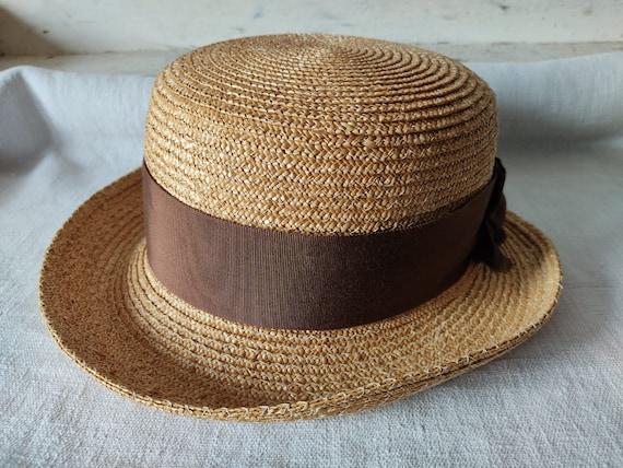 Easter in vintage straw hat sun hat summer hat - image 8